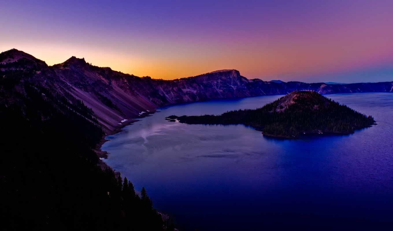 озеро, iphone, crater, oregon, штате, usa, телефон, preview,