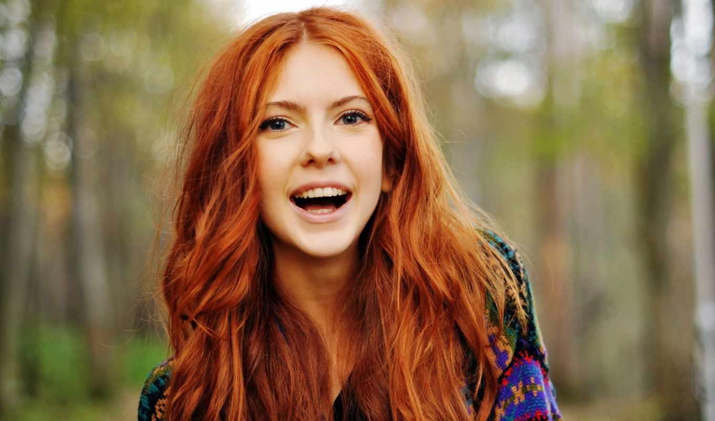 волосы, рыжие, девушка, веселая, color, волос, солнечные, настроение, смех, рыжая,