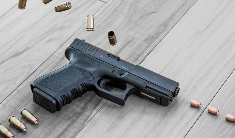 glock, pictures, pistol, weapon, shells,