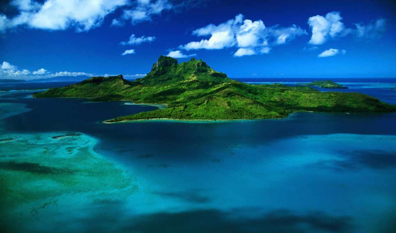 bora, остров, таити,