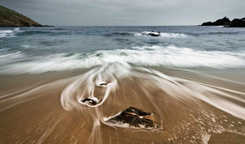 iphone, slow, затвор, waves, море, скалы, пляж, cases, камни,