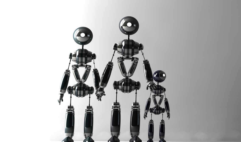 фона, robot, трехмерной, графикой, графика, rar, форм, трехмерная, картинках,