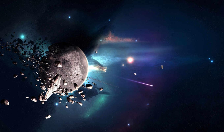 космос, дизайнера, часть, joejesus, planeta, destruction, sudden,