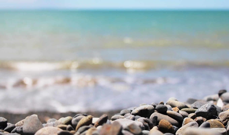 камни, море, берег, пляж, небо, картинка,