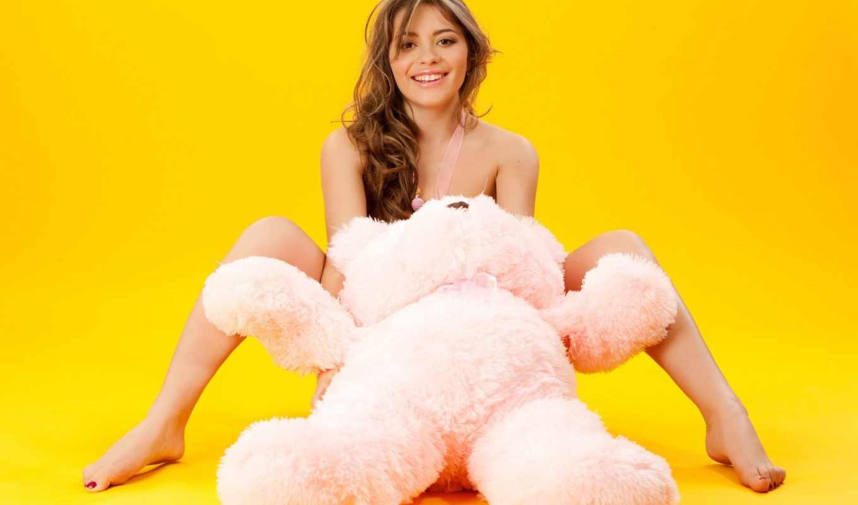 девушка, медведь, девушки, video, дар, большой, плюшевый, девушек,
