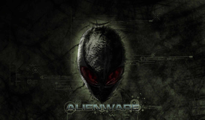 alienware, logo, голова, alien,