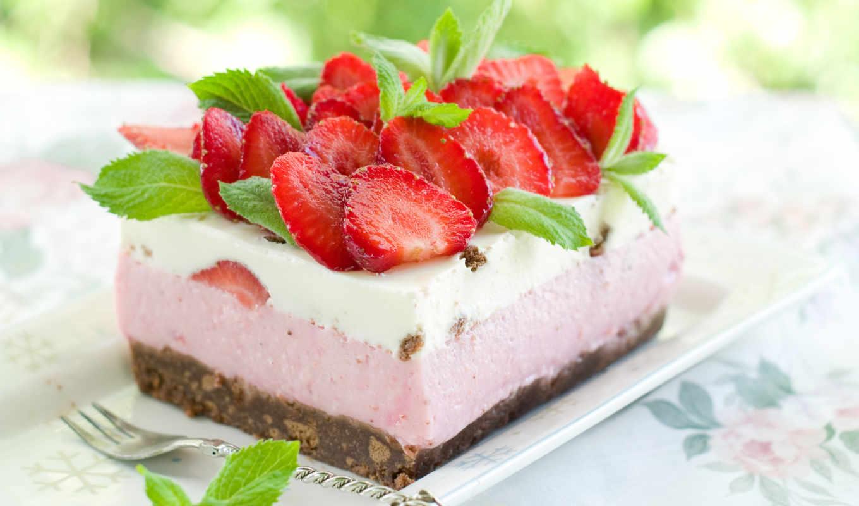 торт, пирожное, пустыня, клубника,