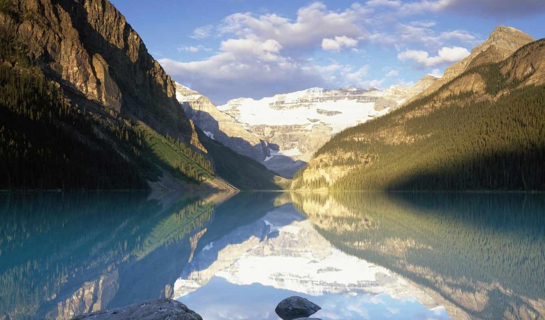 ,природа, горы, река, небо,