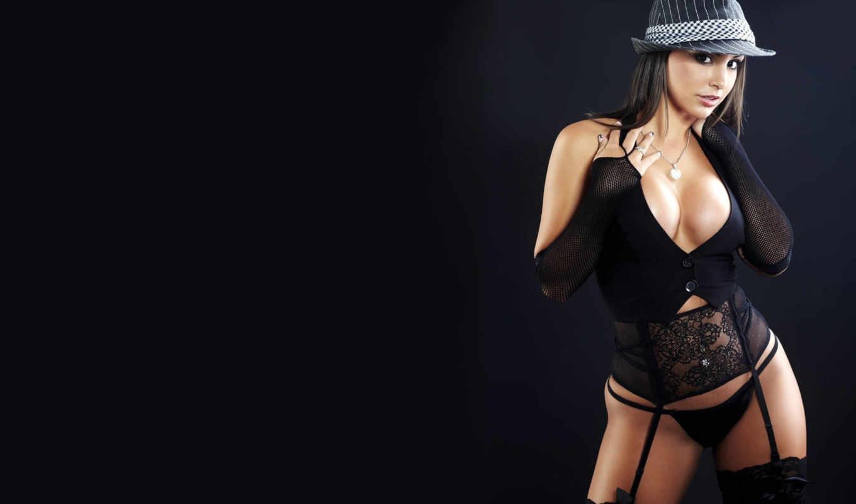белье, женское, шляпы, viorel, dascalu, брюнетки, women, black,