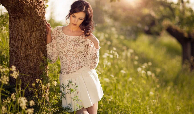 девушка, devushki, дерева, близко, saigal, sayesha, платье, portrait, tempting, cute,