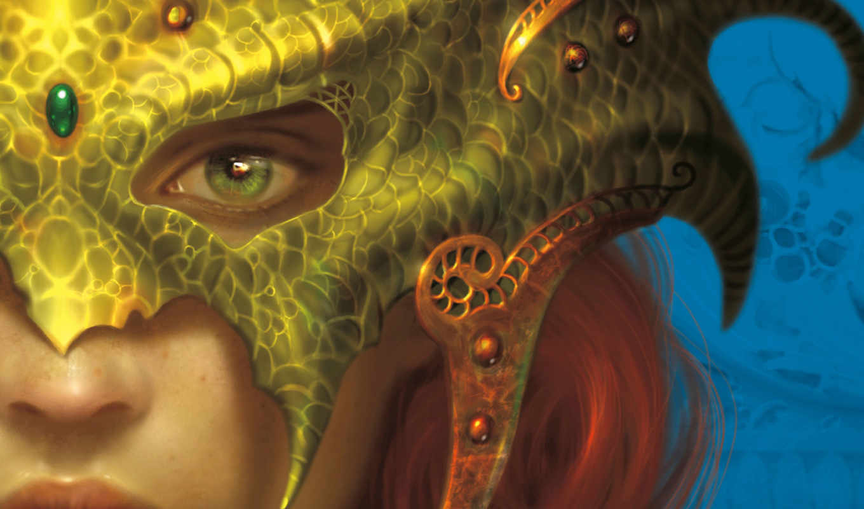 маске, драконы, ре, линзы, фэнтези, девушки, страница, хостинг,