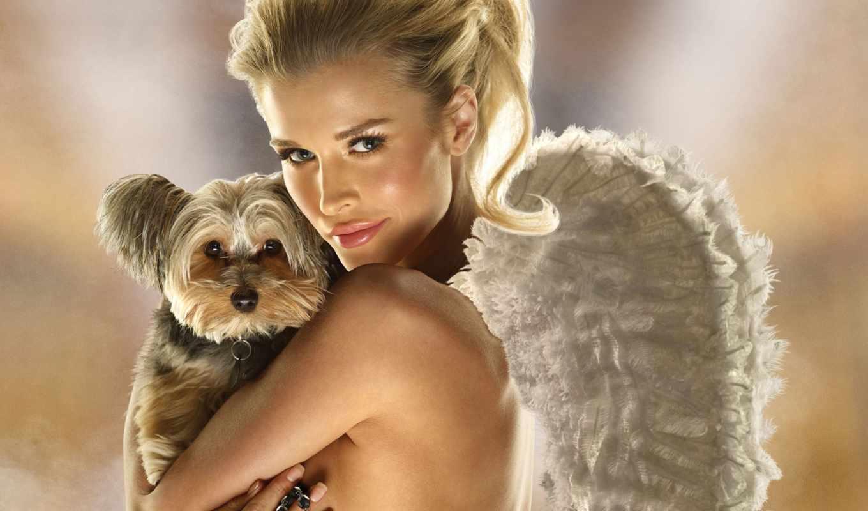 собачкой, девушка, devushki, angel, красивые,