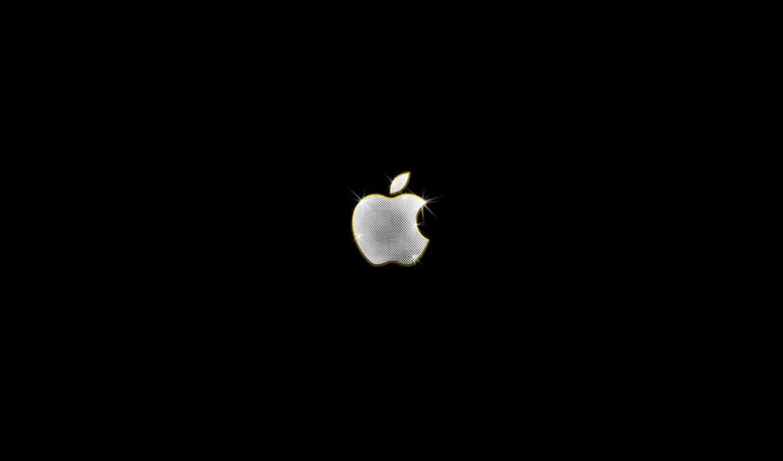 обои, apple, бренды, сайте, обоев, черном, свете,