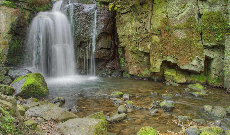 природа, категории, скалы, водопад,