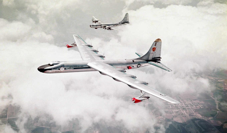 земля, два, самолета, бомбардировщики, convair, nb, aircraft,