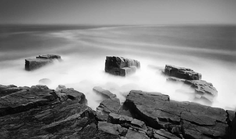 water, морской, туман, mist, download, камни, чёрно, desktop, resimleri, you, widescreen, mac, manzara, rocks,