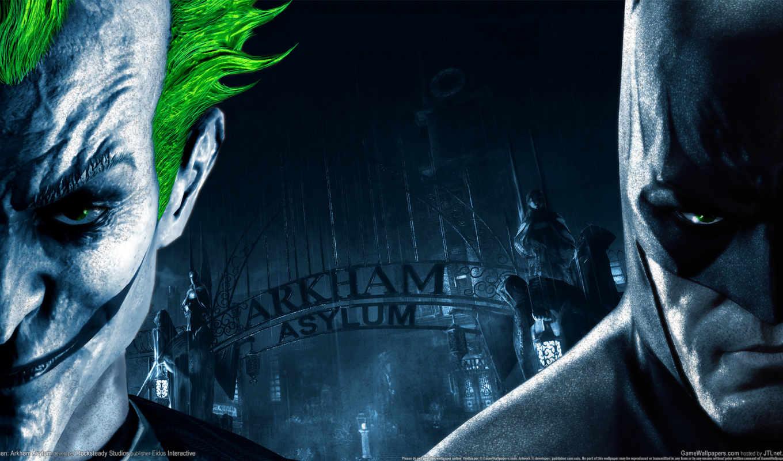 batman, arkham, asylum, ipad, joker, город, игры,