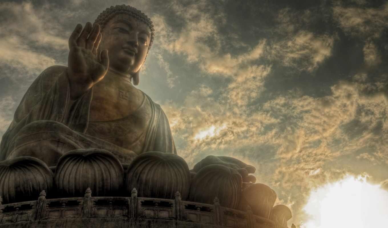 buddha, загар, tian, hong, kong, статуя, lantau, china, биг,