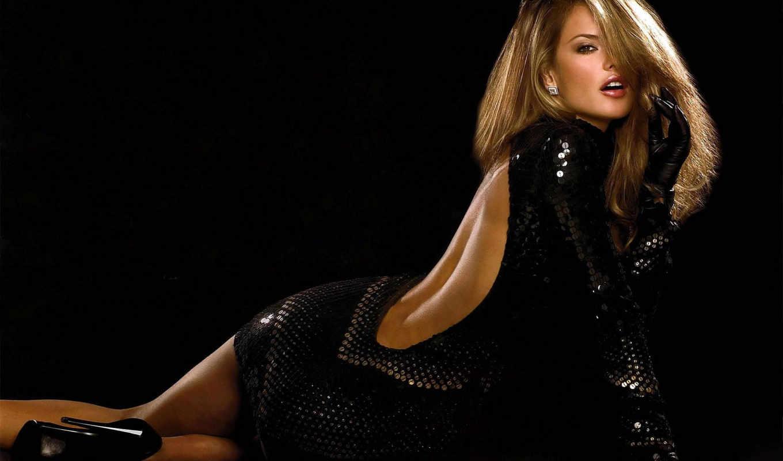 платье, спине, девушка, вырезом, черном, глубоким, ambrosio, декольте, чёрное, women,