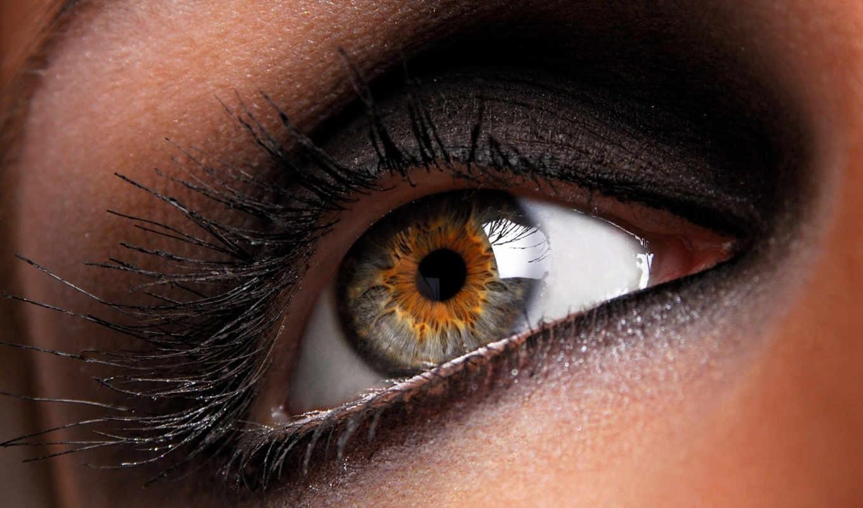 качества, глаз, хорошего, качество, макро,