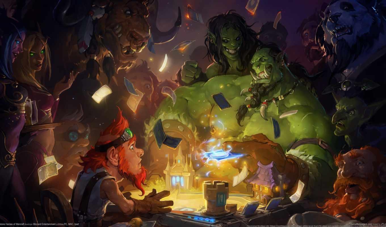 hearthstone, warcraft, heroes, игры, карточная, blizzard,