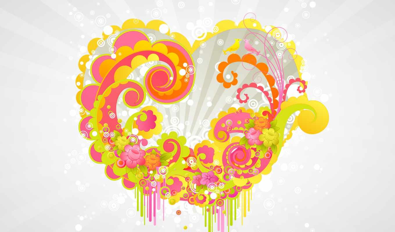 шпалери, обоя, робочий, heart, стіл, серце, love, desktop, vector, day, valentines, bright, click, валентина, св, яркое, background,