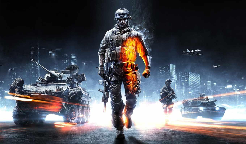 battlefield, танк, самолёт, синий, оруже, картинка, солдат, техника,