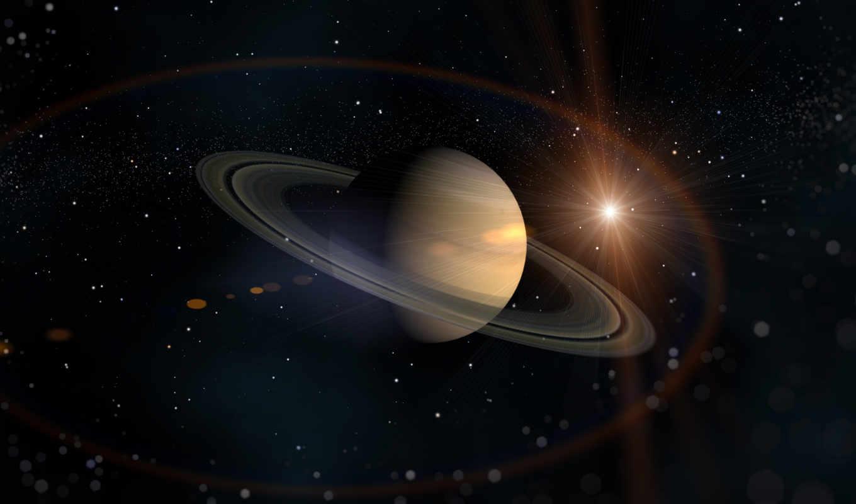 сатурн, planet, космос, солнечной, сатурна, кольца, системы,