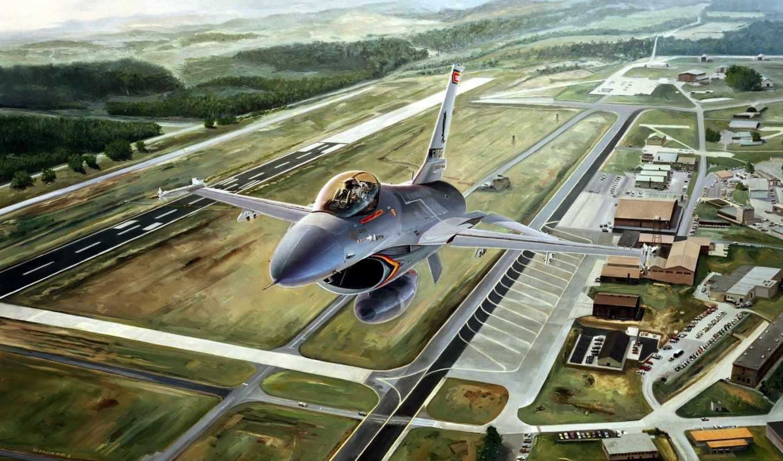 fighting, falcon, general, dynamics, живопись,