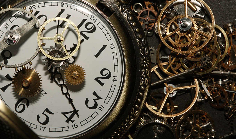 watch, механизм, art, циферблат, детали, шестеренки, часов,