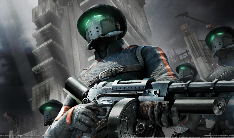 солдат, будущего, военные, damnation, игры, оружие, маска, власти,