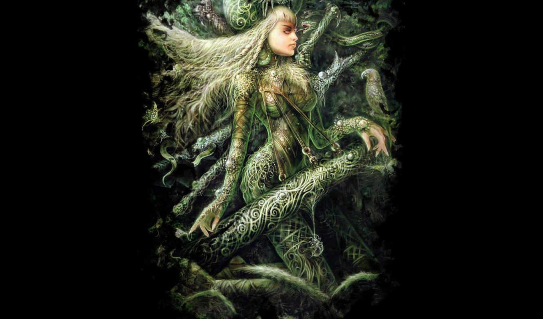 warrior, половина, прекрасная, picture, spider, woman, fantasy,