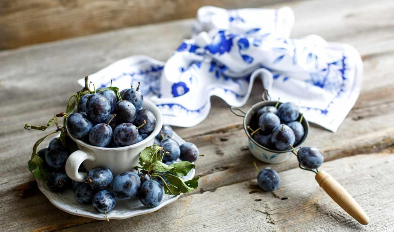 еда, cup, зерна, coffee, блюдце, обою, плоды, размере, истинном, сливы, смотреть, фрукты,