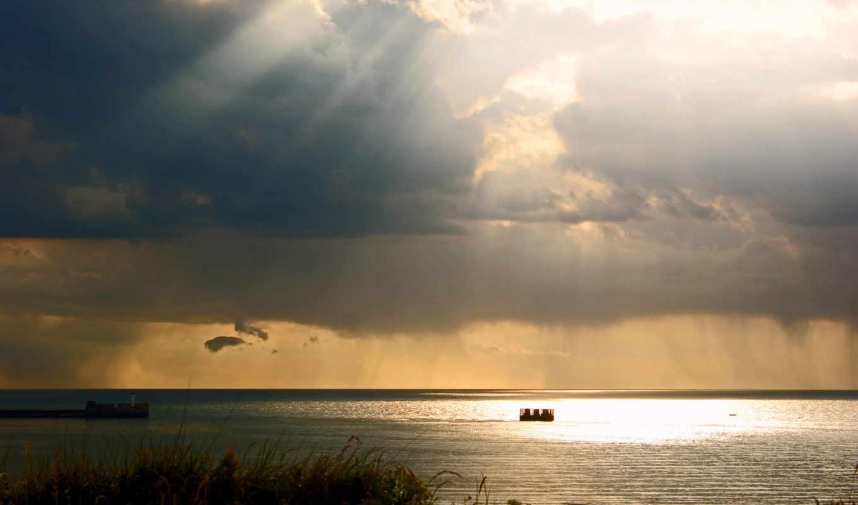 természet, облака, képtelenség, небо, свет,