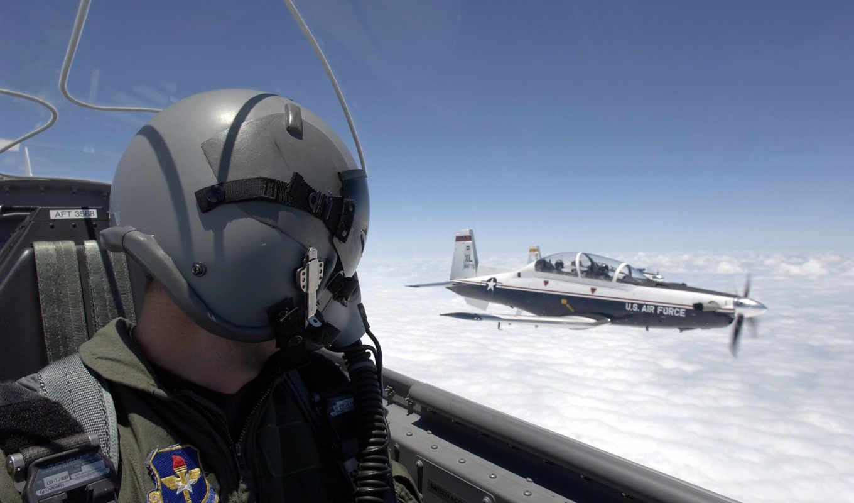 самолёт, авиация, небо, пилот, военный, oblaka, шлем,