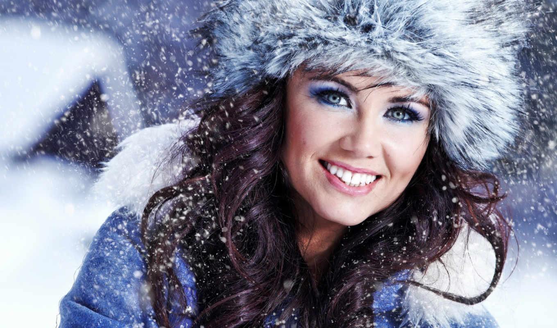 зима, улыбка, шапка, лицо, глаза, за, от, кожей, стоит, daughter, snows, ухода, зимой, человек, года, заставки,