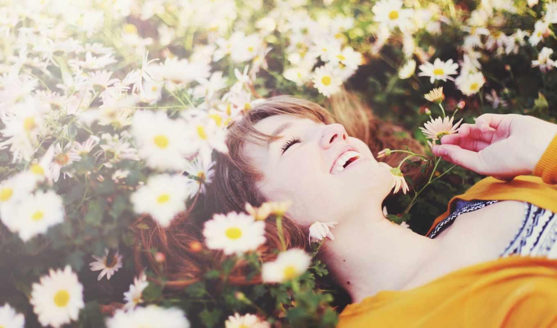 счастье, смех, улыбка, девушка,