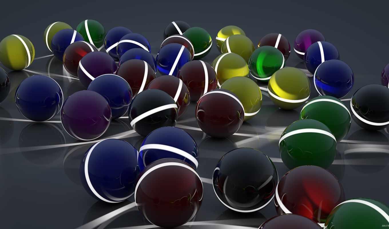 шары, разные, поверхность, арт, сферы, полосы, линии,