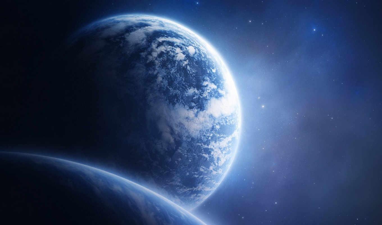 космос, планета, картинку, картинка, синее, планеты, небо, земля, бесплатные, кнопкой, звезды, облака, мыши, вселенная, поверхность, desktop, art, download,