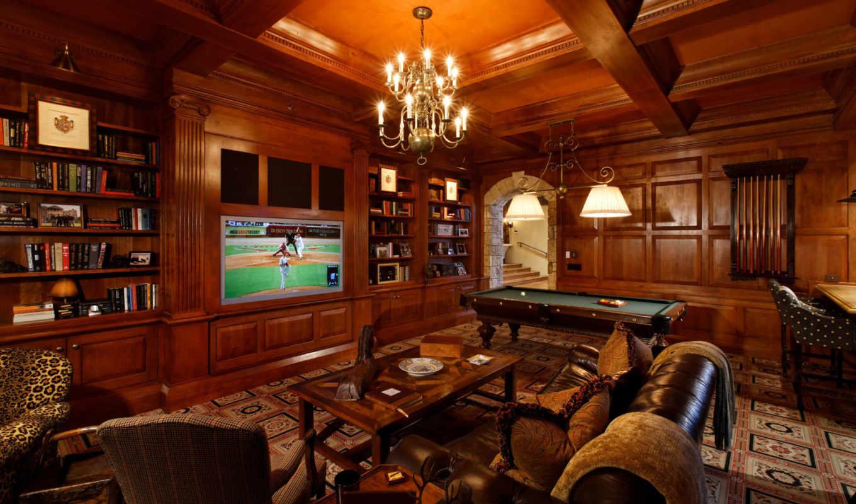 комната, бильярдный, game, интерьер, столик, бассейн,