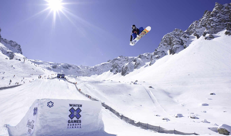 ,сноуборд, snowboarding, снег, высоком, спорт, прыжок,