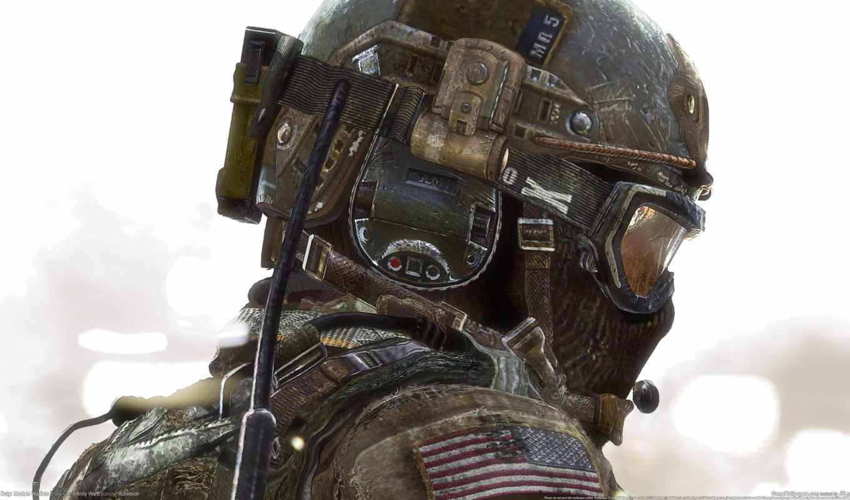 солдат, колл, duty, игры, современный, warfare, шлем,