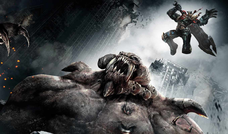 ,darksiders, wrath, war, игры, мерть, всадник, меч, картинка