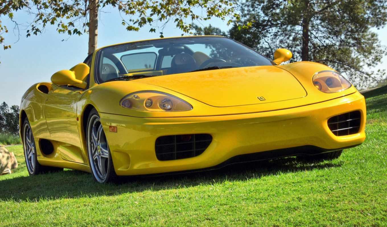 ferrari, феррари, спайдер, yellow, spider, часть, обоев, картинка, سيارات,