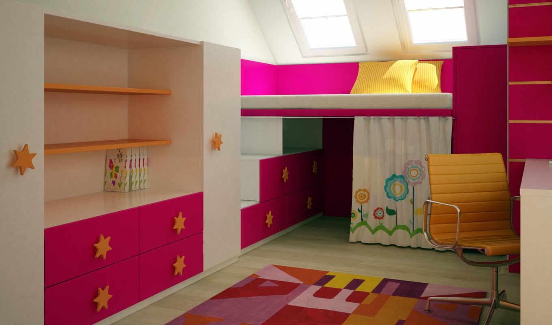 комнаты, детские, детской, дизайн,