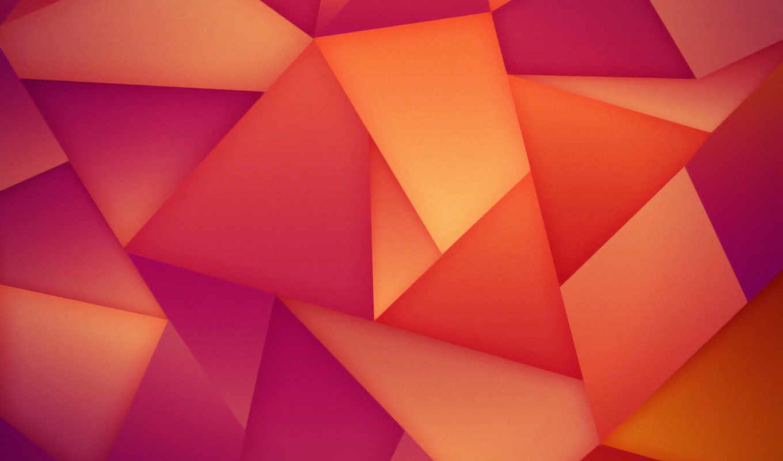 абстракция, треугольники, картинка,