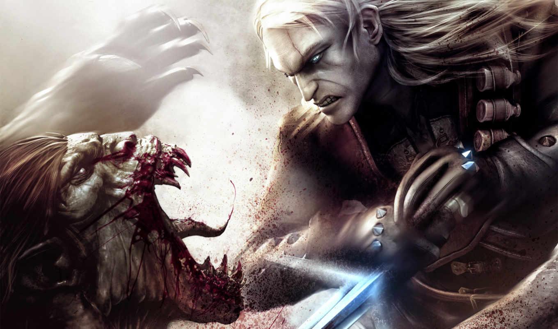 witcher, монстр, гм, игры, меч, фэнтези, red, фантастика, projekt, картинка, games, sfondo,