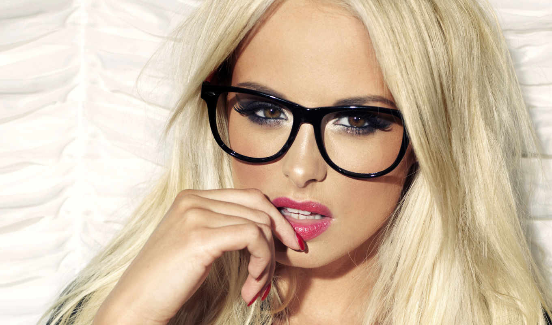 очках, девушки, девушка, очки,