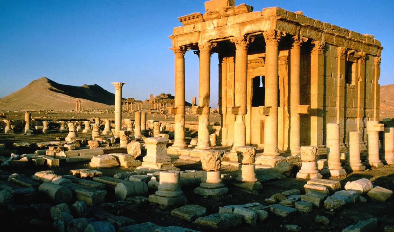 пальмира, сирия, разруха,