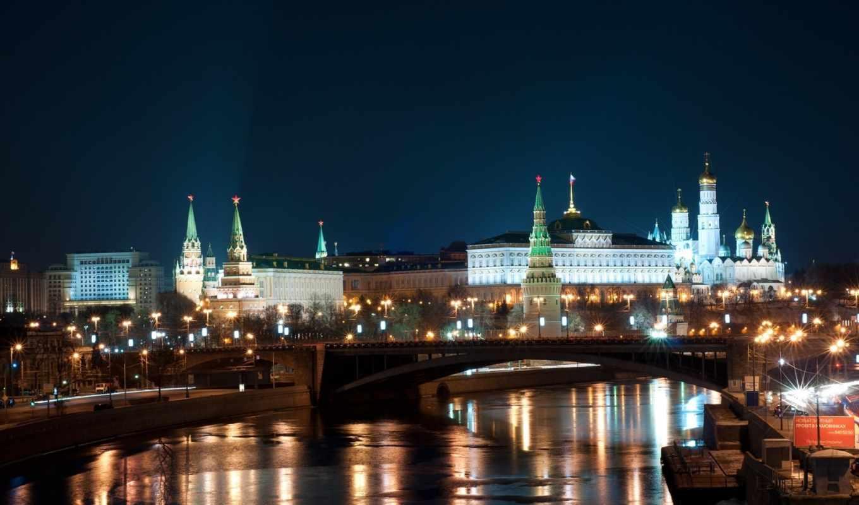 москва, ночь, победы, кремль,
